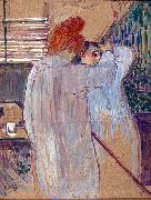 Henri  Toulouse-Lautrec Two Women in Nightgowns oil painting reproduction