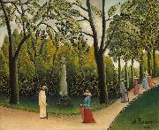 Henri Rousseau Luxembourg Gardens. Monument to Chopin oil painting reproduction