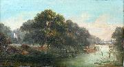 John Mundell Punting Down the River oil painting reproduction