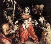Lorenzo Lotto Mystic Marriage of St Catherine oil painting reproduction