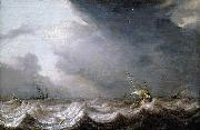 MOLYN, Pieter de Dutch Vessels at Sea in Stormy Weather oil painting reproduction