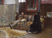 Pascal Dagnan-Bouveret Gustave Courtois in his studio oil painting reproduction
