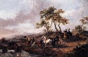 Philips Wouwerman Halt of the Hunting Party oil painting