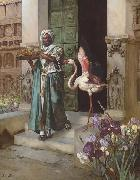 Rudolf Ernst Entering the Palace Gardens oil painting