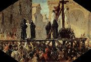 Stefano Ussi The Execution of Savonarola oil painting