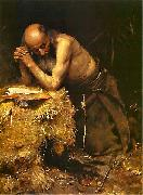 Teodor Axentowicz The Anchorite oil painting