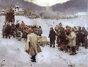 Teodor Axentowicz Hutsul Funeral oil painting reproduction