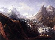 Thomas Ender The Grossglockner with the Pasterze Glacier oil painting