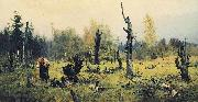 Vasily Polenov Burnt Forest oil painting