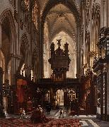 Victor-Jules Genisson Interior of the 'Sint-Salvatorkathedraal' in Bruges oil painting