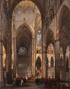 Victor-Jules Genisson Interior of Westminster Abbey oil painting