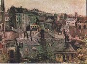 Vincent Van Gogh Overlooking the rooftops of Paris oil painting reproduction