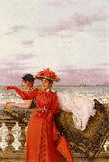 Vittorio Matteo Corcos Looking Out To Sea oil painting