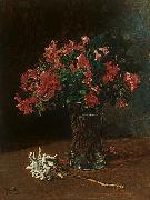 Wilhelm Trubner Flower Vase oil painting