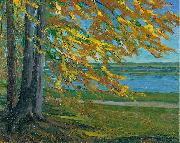 Wilhelm Trubner Lake Starnberg oil painting