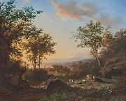 Willem Bodeman Italianate landscape oil painting reproduction