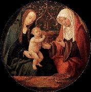 Willem Cornelisz. Duyster Virgin and Child with St Anne oil painting