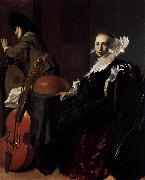 Willem Cornelisz. Duyster Music-Making Couple oil painting