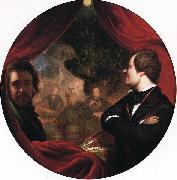 William James Hubard Mann S. Valentine and the Artist oil painting