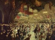 William Notman Skating Carnival, Victoria Rink. This event was staged in honour of Prince Arthur oil painting