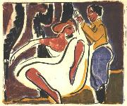 Ernst Ludwig Kirchner Russian dancer oil painting reproduction