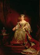 George Hayter Queen Victoria seated on the throne in the House of Lords oil painting reproduction