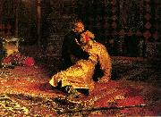 Ilya Repin Ivan the Terrible and His Son Ivan on November 16th, 1581 oil painting reproduction