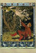 Ivan Bilibin Ivan Tsarevich catching the Firebird's feather 1899 oil painting reproduction