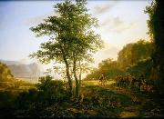 Jan Both Italianate Landscape with travellers oil painting reproduction