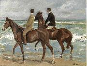 Max Liebermann Zwei Reiter am Strand oil painting reproduction
