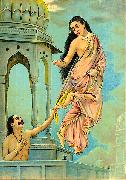 Raja Ravi Varma Urvashi and pururavas oil painting reproduction