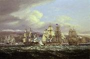 Thomas Luny Blockade of Toulon, 1810-1814: Pellew's action, 5 November 1813 oil painting