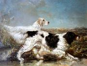 Verner Moore White Typical Verner Moore White hunt scene featuring dogs oil painting reproduction
