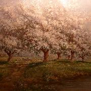 Verner Moore White Typical Verner Moore White oil painting on canvas of apple blossoms oil painting