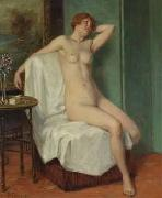 Victor Schivert Female Nude Sitting oil painting
