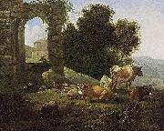 Willem Romeijn Italianate Landscape oil painting reproduction