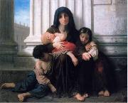 William-Adolphe Bouguereau Familia indigente oil painting