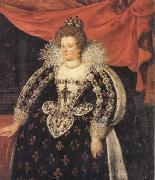 Frans Pourbus the younger Marie de Medicis,Queen of France oil painting