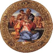Michelangelo Buonarroti The Holy Family with the Young St.John the Baptist oil painting
