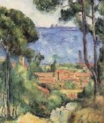 Paul Cezanne Vue sur I Estaque et le chateau d'lf oil painting reproduction