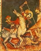VITALE DA BOLOGNA St George 's Battle with the Dragon oil painting