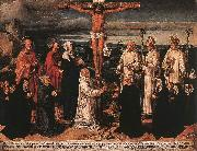 WOENSAM VON WORMS, Anton Christ on the Cross with Carthusian Saints oil painting