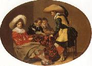 Willem Cornelisz Duyster Officers Playing Backgammon oil painting