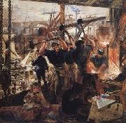 William Bell Scott Iron and Coal oil painting
