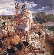 William Bell Scott The Romans Cause a Wall to be Built for the Protection of the South oil painting