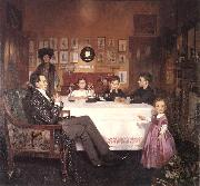 William Orpen A Bloomsbury Family oil painting