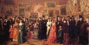William Powell  Frith Private View of the Royal Academy 1881 oil painting