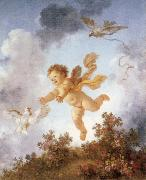 Jean-Honore Fragonard Pursuing a dove oil painting reproduction