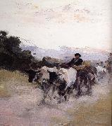 Nicolae Grigorescu Ox Cart oil painting reproduction