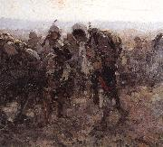 Nicolae Grigorescu Gypsies on the Road oil painting reproduction